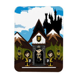 Princess & Knights at Mini Castle Magnet