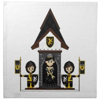 Princess & Knights at Mini Castle Napkin