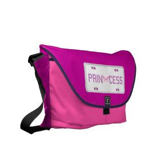 Princess License Plate Messenger Bag