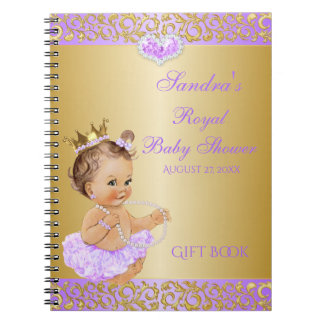 Princess Lilac Lavender Gold Gift Guest Notebook