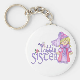 Princess Little Sister Basic Round Button Key Ring