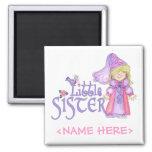 Princess Little Sister Refrigerator Magnets