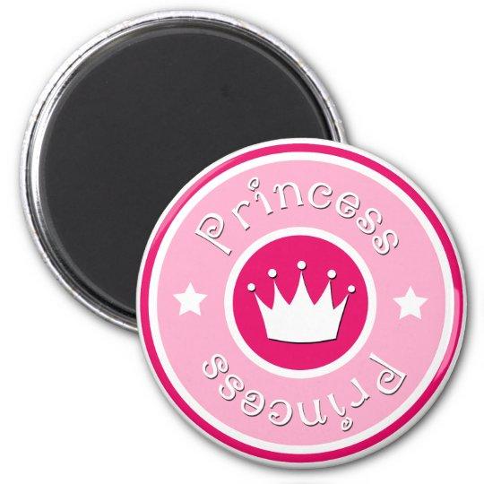 Princess Logo 6 Cm Round Magnet