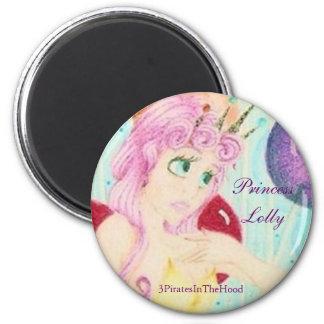 Princess Lolly 6 Cm Round Magnet