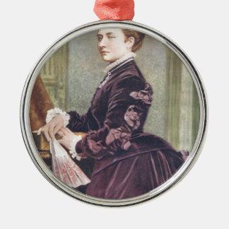 Princess Louise (Duchess of Argyll) Silver-Colored Round Decoration