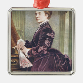 Princess Louise (Duchess of Argyll) Silver-Colored Square Decoration