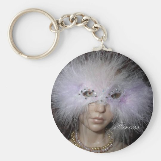 Princess Lucia Basic Round Button Key Ring