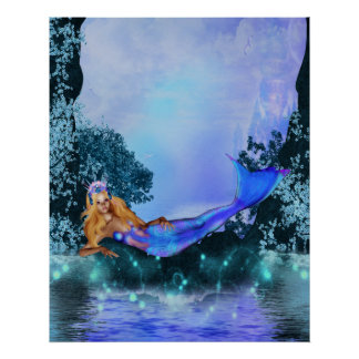 Princess Mermaid Poster
