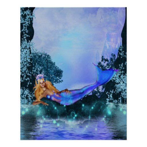 Princess Mermaid Print