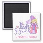 Princess Middle Sister Refrigerator Magnet