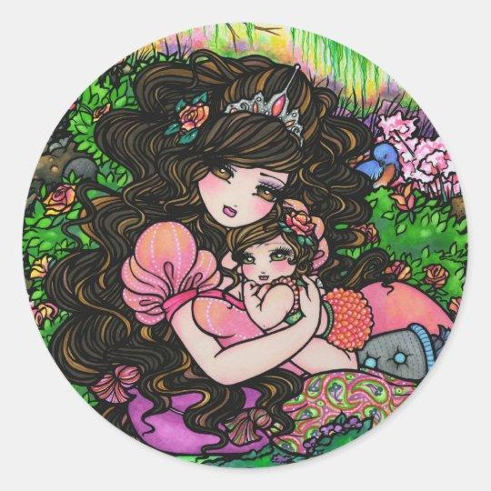 Princess Mum & Baby Shower Fantasy Art Stickers