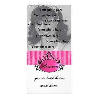 Princess Name Filigree Photo Greeting Card