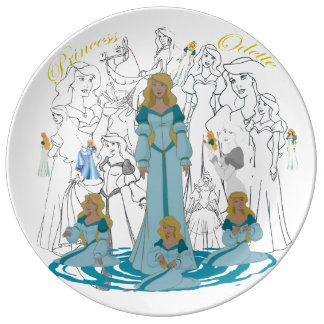 "Princess Odette Porcelain Sketch Plate (10.75"")"