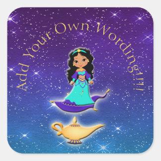 Princess of Arabian Nights Genie Magical Stickers