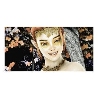 Princess of Autumn Customized Photo Card