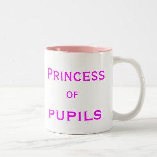 Princess of Pupils Special Female Teacher Name Two-Tone Coffee Mug