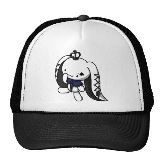 Princess of Spades White Rabbit Trucker Hats