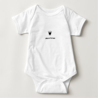 Princess of the house monochrome design with crown baby bodysuit