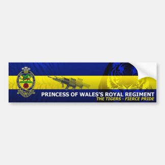 Princess of Wales's Royal Regiment - Car Sticker