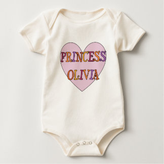 Princess Olivia Baby Bodysuit