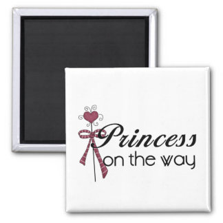 Princess on the Way Square Magnet