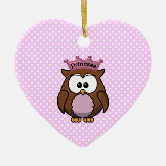 Princess owl christmas ornament