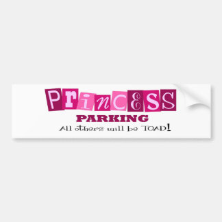 Princess Parking Bumper Sticker