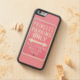 Princess parking only carved maple iPhone 6 bumper case