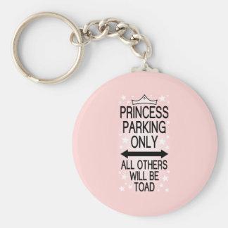 Princess Parking Only Key Ring