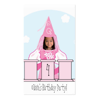 Princess Party Favor Tag Pack Of Standard Business Cards