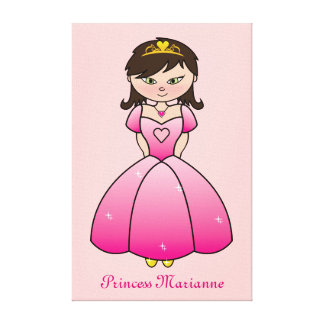 Princess Personalised Girls Room Canvas Wall Art Stretched Canvas Prints