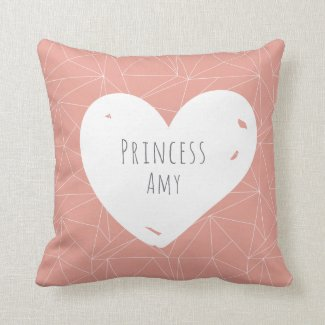 Princess Personalized Throw Cushion