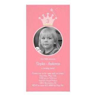 Princess Photo Birthday Party Invitation Customised Photo Card