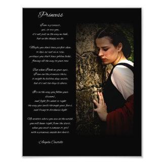 "Princess Picture with ""Princess"" Poem Photo Print"