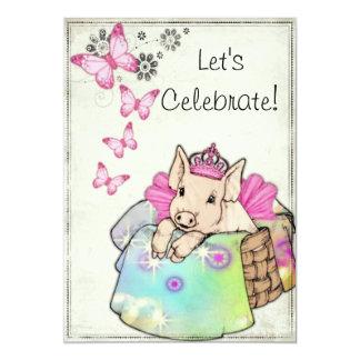 Princess Piggy in a Blanket Invitation