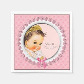 Princess Pink Baby Shower Personalized Elegant Disposable Napkin