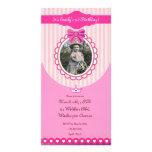 Princess Pink Birthday Photo Card Invitation
