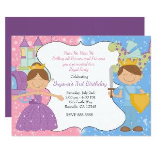 Princess & Prince Castle Royal Party Invitation