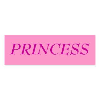PRINCESS PROFILE CARD BUSINESS CARDS