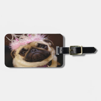 Princess Pug Luggage Tag