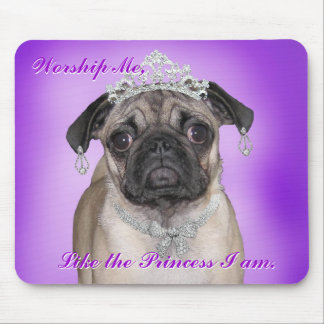 princess pug mouse pad