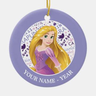 Princess Rapunzel | Rapunzel Add Your Name Christmas Ornament