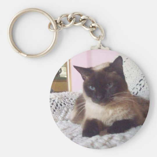 Princess relaxing on the couch basic round button key ring