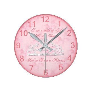 Princess Religious Wall Clock