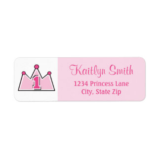 Princess Return Address Label