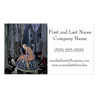 Princess Rides a Turtle Illustration Pack Of Standard Business Cards