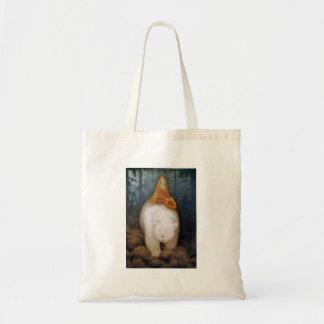 Princess Riding King Polar Bear Budget Tote Bag
