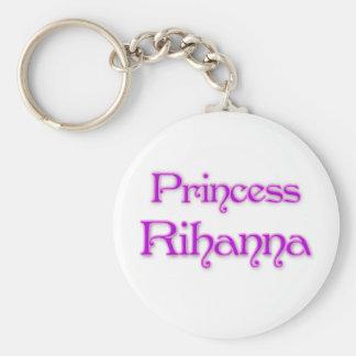 Princess Rihanna Basic Round Button Key Ring