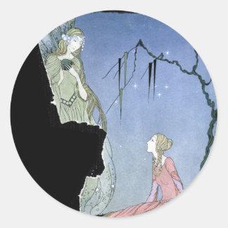 Princess Rosette and Fairy Round Sticker