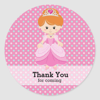 Princess Round Sticker